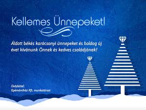 Karácsony képeslap